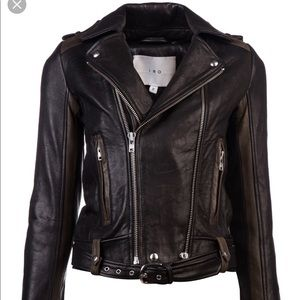 IRO Sallie assymentrical quilted leather jacket